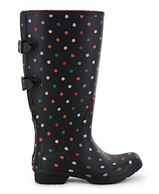 Women's Dot Wide-Calf Rain Boot