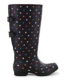Chooka Women's Dot Wide-Calf Rain Boot