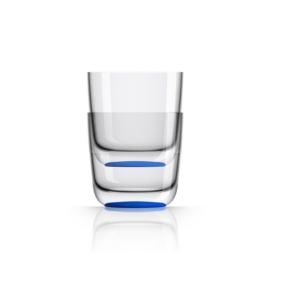 Marc Newson by Palm Tritan Whisky Tumbler with Klein-blue non-slip base, Set of 2