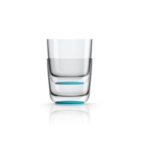 Marc Newson by Palm Tritan Whisky Tumbler with Vivid Blue non-slip base, Set of 2