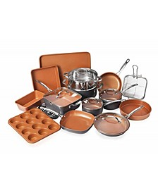 20 Piece Non-Stick Ti-Ceramic Complete Cookware & Bakeware Set