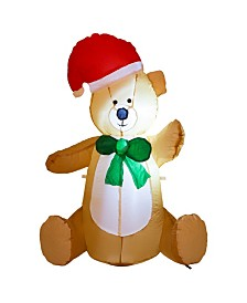 Glitzhome Lighted Inflatable little Bear Decor
