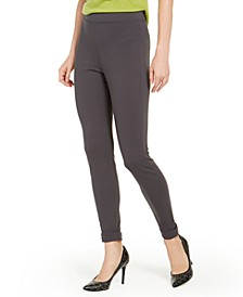 Brushed Fleece-Lined Ponté-Knit Leggings