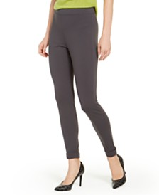 HUE® Brushed Fleece-Lined Ponté-Knit Leggings