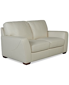 "Jaspene 68"" Leather Loveseat, Created For Macy's"