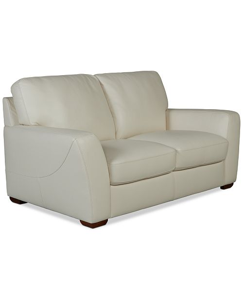 Marvelous Jaspene 68 Leather Loveseat Created For Macys Bralicious Painted Fabric Chair Ideas Braliciousco