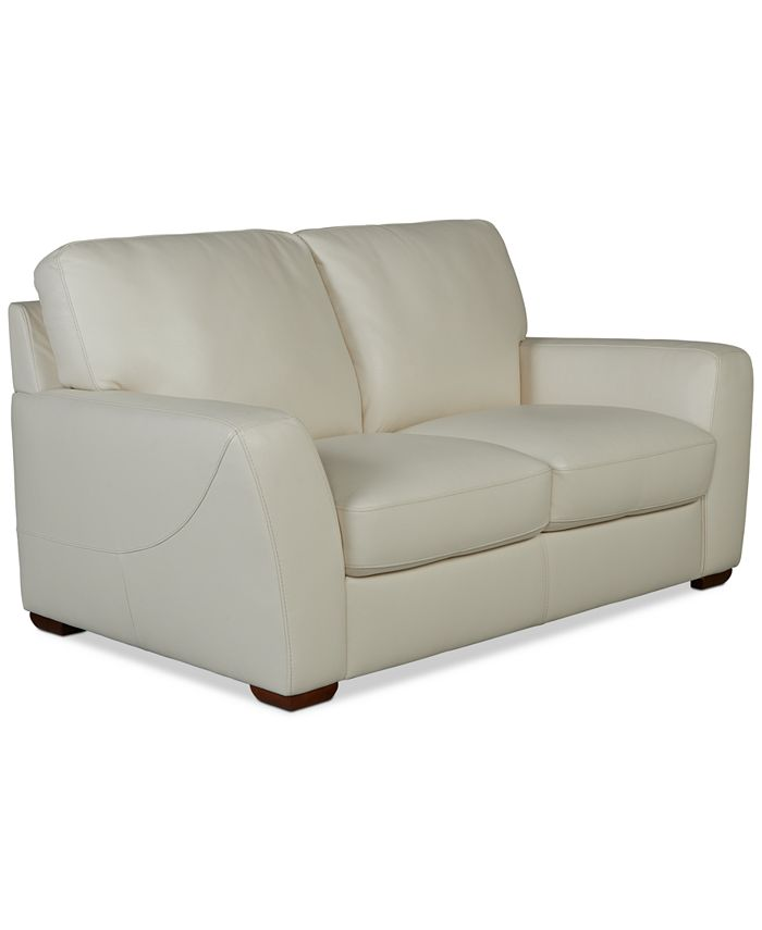 """Furniture - Jaspene 68"""" Leather Loveseat"""