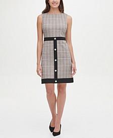 Petite Knit Snap Hem Shift Dress