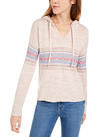 Juniors' Fair Isle Hoodie Sweater, Created for Macy's
