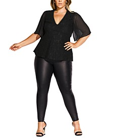 Trendy Plus Size High Born Top