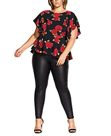 Trendy Plus Size Rose Liaison Top