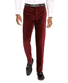 Men's Slim-Fit Velvet Pants