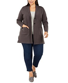 Plus Size Sweater Blazer, Created for Macy's
