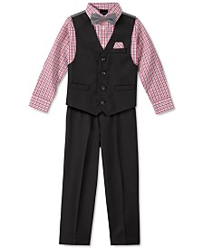 Nautica Little Boys 5-Pc. Textured Tailored Vest Set