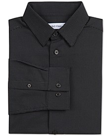 Big Boys Stretch Textured Micro-Dot Dress Shirt