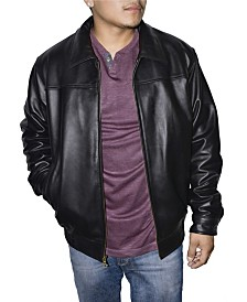 Victory Sportswear Retro Leather Men's Bomber Jacket