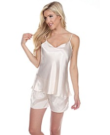 Satin Cami and Shorts Pajama Set