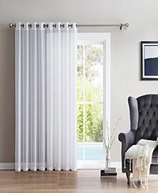Lumino by Perth Semi Sheer Grommet Patio Door Panel - 100 W x 84 L