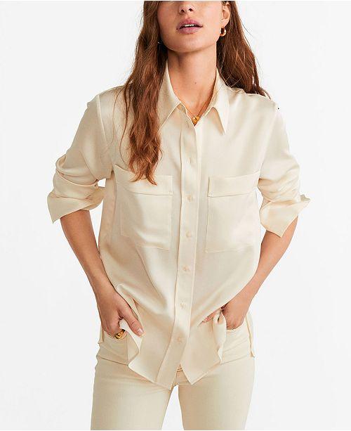 MANGO Satin Shirt