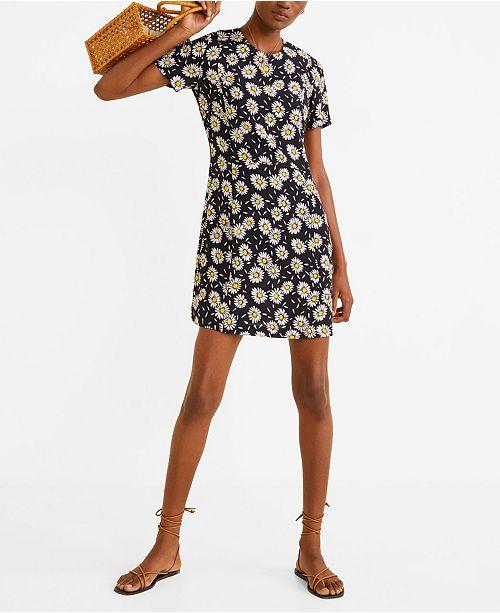 MANGO Floral Print Dress