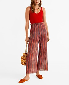 Mango Striped Knit Trousers