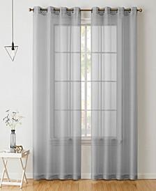 Lumino by Perth Semi Sheer Grommet Curtain Panels - 54 W x 95 L - Set of 2