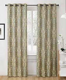 "Obscura By Melton Paisley Blackout Grommet Curtain Panels - 50"" W X 96"" L - Set of 2"