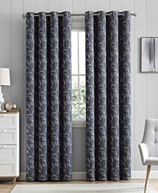 Obscura Hobart Floral Blackout Grommet Curtain Panels - 52 W x 84 L - Set of 2
