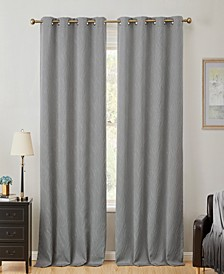 Obscura by Cairns 100% Blackout Grommet Curtain Panels - 50 W x 96 L - Set of 2