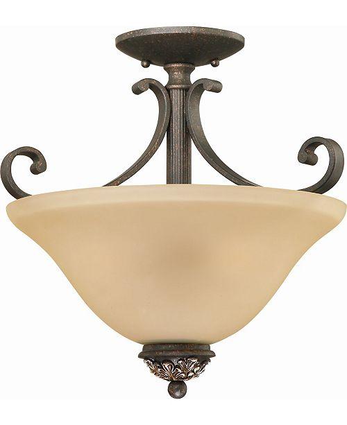 Volume Lighting Bristol 3-Light Semi-Flush Mount Ceiling Fixture