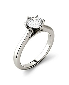 Moissanite Solitaire Engagement Ring 1 ct. t.w. Diamond Equivalent in 14k White Gold