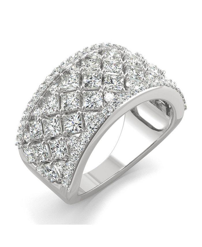 Charles & Colvard - Moissanite Fashion Band 3-3/4 ct. t.w. Diamond Equivalent in 14k White Gold