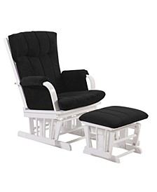 Home Deluxe Cushion 2-Piece Glider Chair and Ottoman Set