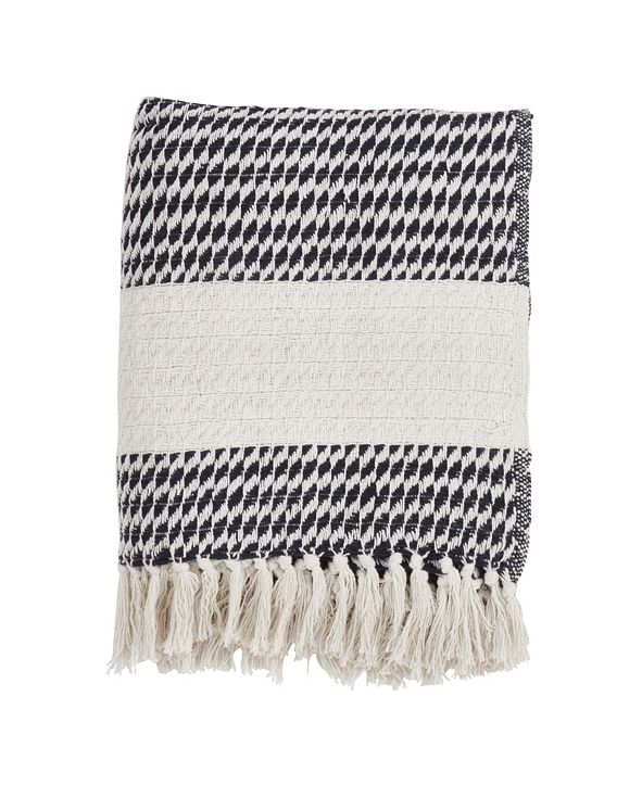 Saro Lifestyle Diamond Weave Design Throw