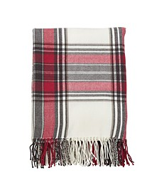 Plaid Fringed Throw