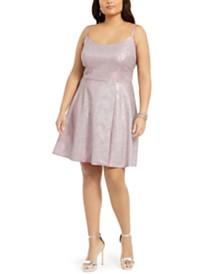 Morgan & Company Plus Size Sparkle Fit & Flare Dress
