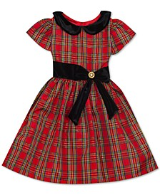 Toddler Girls Peter-Pan-Collar Plaid Dress