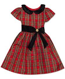 Rare Editions Little Girls Peter-Pan-Collar Plaid Dress