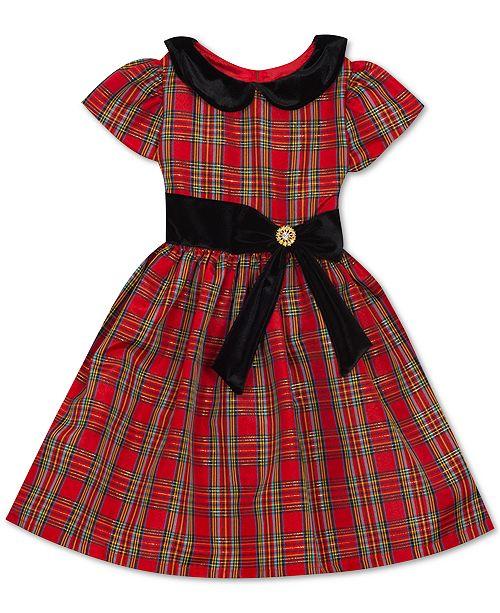 Rare Editions Toddler Girls Peter-Pan-Collar Plaid Dress