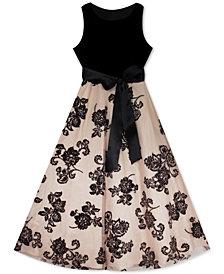 Rare Editions Big Girls Velvet Glitter Dress