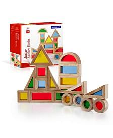 Guidecraft Junior Rainbow Blocks - 20 Pieces Set