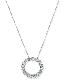 "Diamond Circle 18"" Pendant Necklace (1-1/3 ct. t.w.) in 14k White Gold"