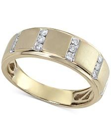 Men's Diamond Band (1/4 ct. t.w.) in 10k Gold