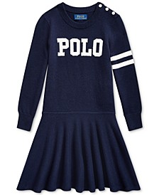 Little Girls Merino Blend Logo Dress
