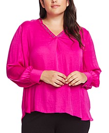 Plus Size Studded Top