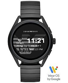 Emporio Armani Men's Black Stainless Steel Bracelet Touchscreen Smart Watch 45mm