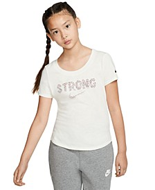 Big Girls Strong-Print Cotton T-Shirt