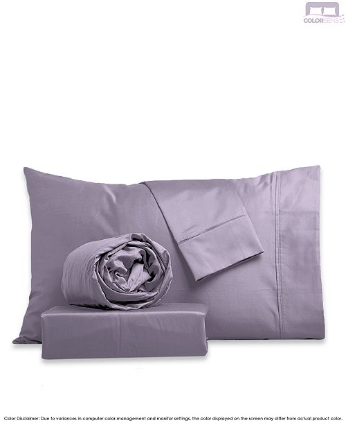 Color Sense Silky Touch Sateen Silky Sheet Set- King