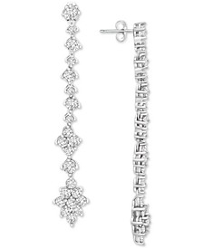 Diamond Linear Drop Earrings (2-1/2 ct. t.w.) in 14k White Gold, Created for Macy's