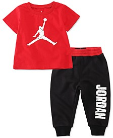 Jordan Baby Boys 2-Pc. Jumpman-Print T-Shirt & Jogger Pants Set